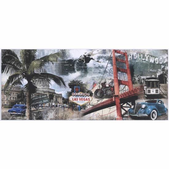 Cadre déco Canvas Art Amerique 50x120 cm