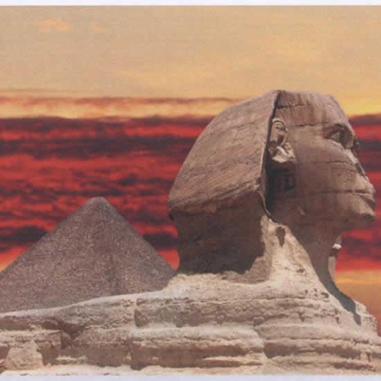 Cadre déco Canvas Art Sphinx Egypte 60x80