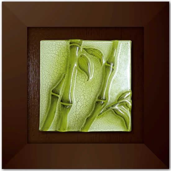 Tableau décoratif Glass Art 33x33 bambou