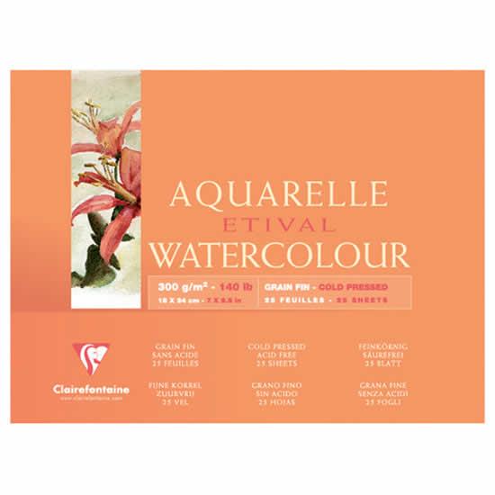 Papier aquarelle Clairefontaine 10x15 25 feuilles
