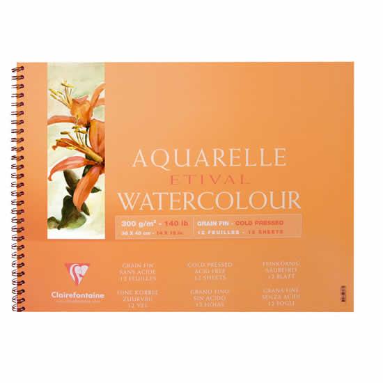 Papier aquarelle Clairefontaine 18x24 12 feuilles