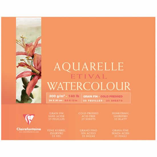 Papier aquarelle Clairefontaine 24x30 25 feuilles