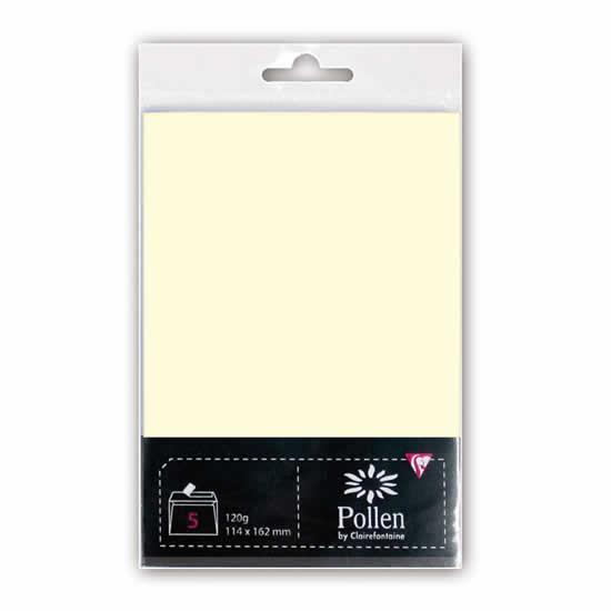 1 enveloppes ivoire 210 g pour création 114x162