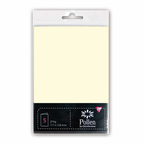 5 Cartes ivoire 210 g pour création 110x155