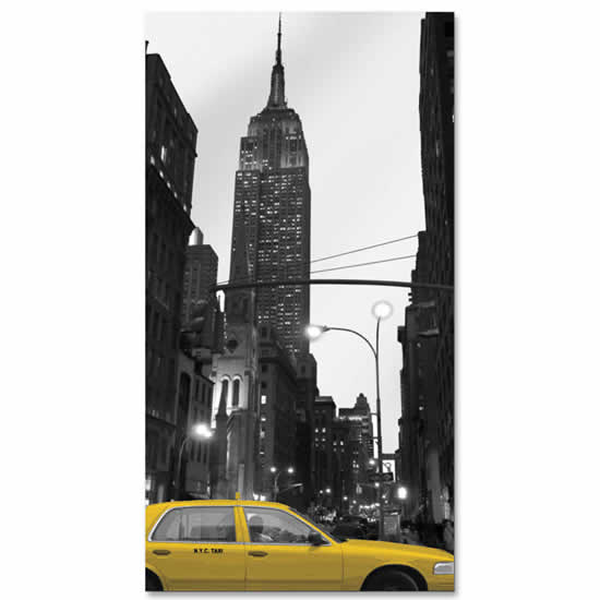 Miroir aux couleurs de New York 40x75cm