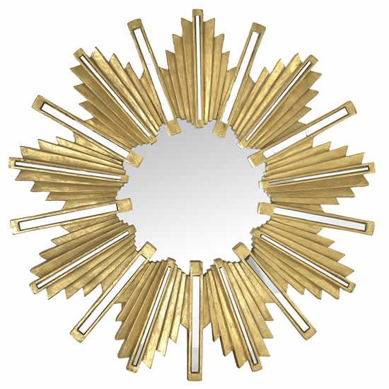 Miroir soleil Olga doré Emdé