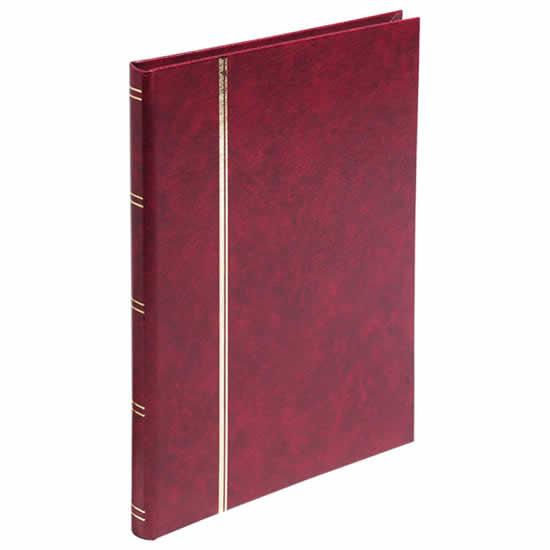 Album timbres 32 pages rouge 165x225 mm philatélie