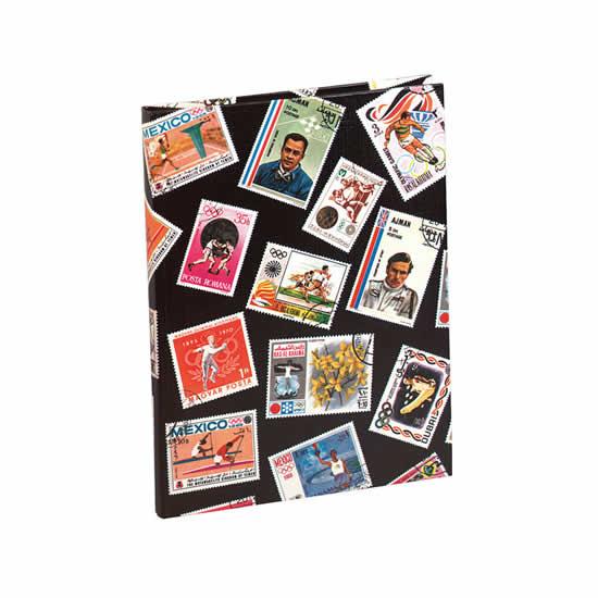 Album timbres noir 16 pages philatélie petit