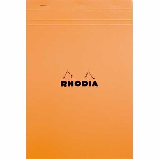 Bloc Rhodia A4+ agrafé en-tête  210x318 sans ligne
