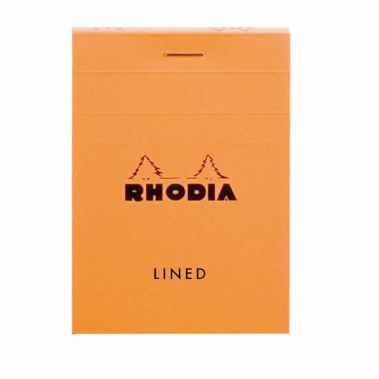 Bloc Rhodia A7 74x105 agrafé en-tête ligné
