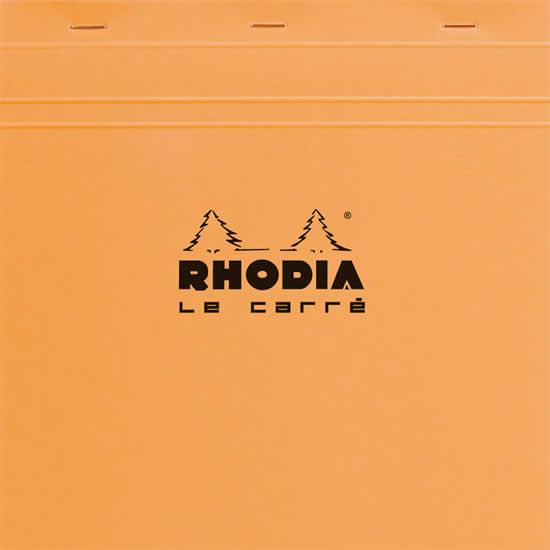 Bloc Rhodia carré  210x210  agrafé  petits carreau