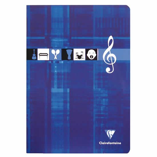 Cahier musique bleu A4 10 portées 48 pages