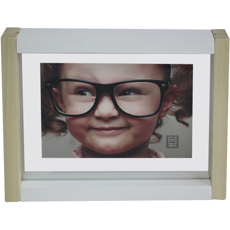 cadre photo bois bicolore 10x15 emd. Black Bedroom Furniture Sets. Home Design Ideas