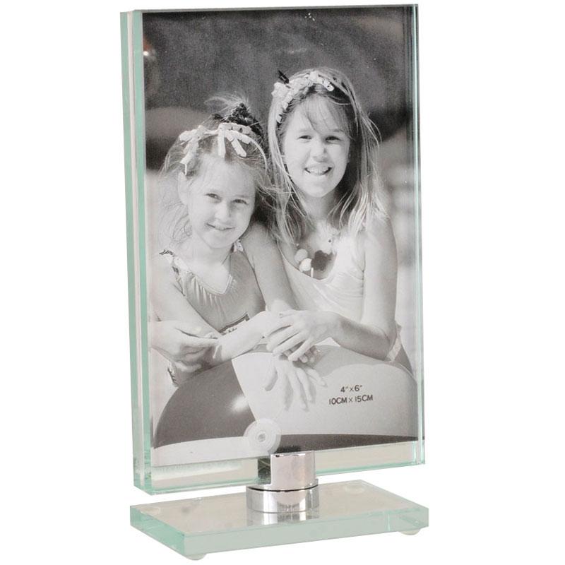 Cadre toupie en verre vertical 13x18 emd - Cadre photo en verre a poser ...