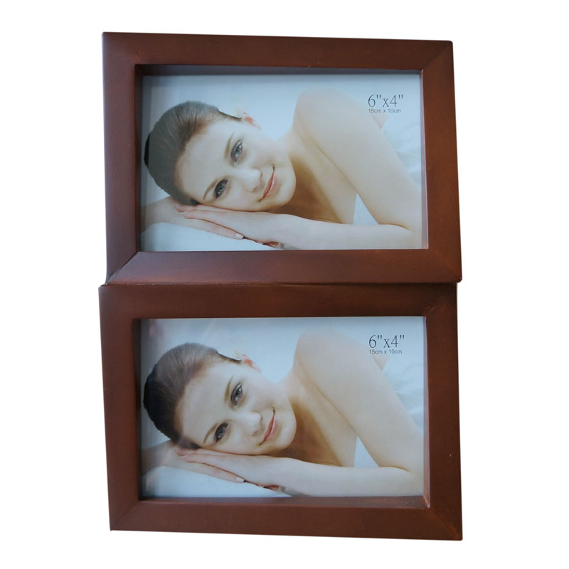 cadre photo multivues brun 2 photos 10x15 zep. Black Bedroom Furniture Sets. Home Design Ideas