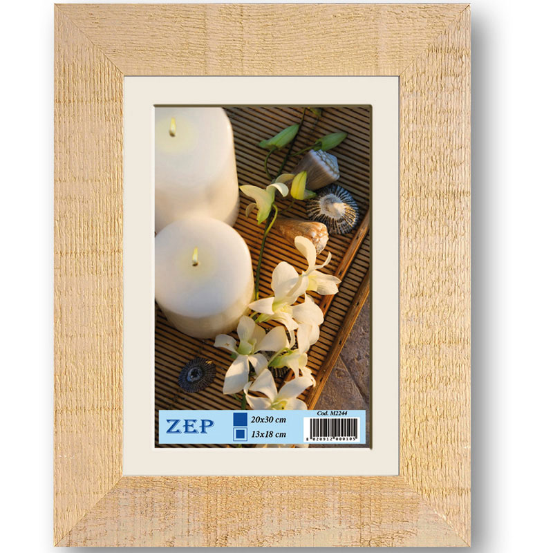 cadre en bois brut beige pour photo 30x40 cm zep. Black Bedroom Furniture Sets. Home Design Ideas