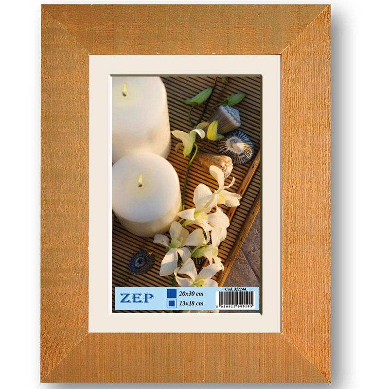 cadre en bois brut brun pour photo 30x40 cm zep. Black Bedroom Furniture Sets. Home Design Ideas