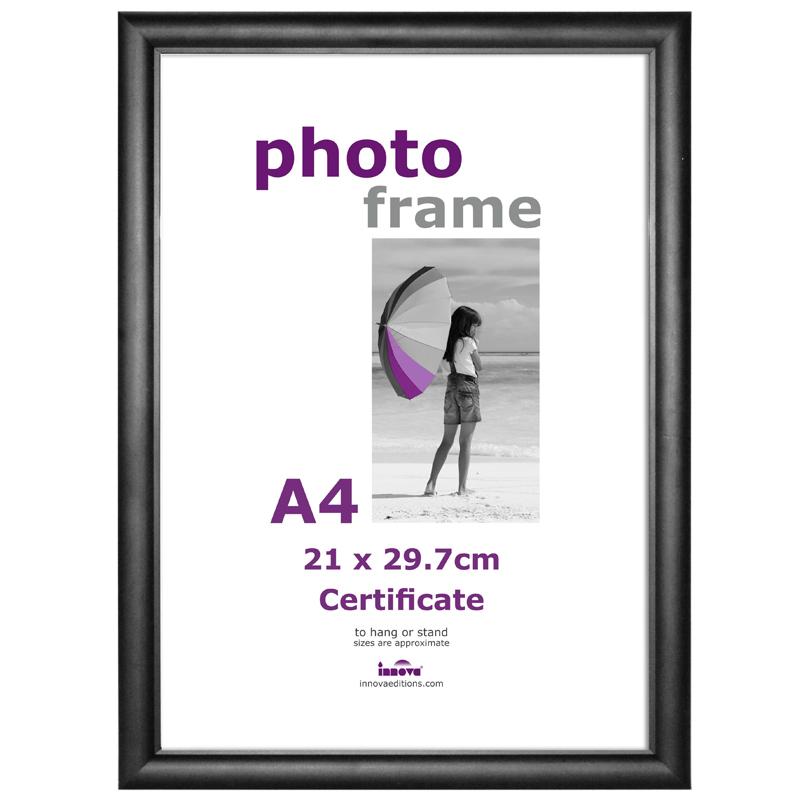 cadre photo a4 certificat noir plexiglass innova. Black Bedroom Furniture Sets. Home Design Ideas