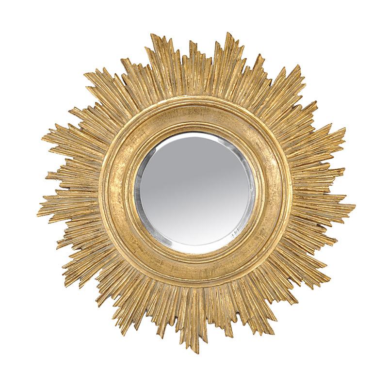 Miroir soleil dor emd emd for Miroir 70x70