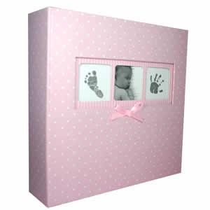 Album bébé 200 photos 10x15cm rose à pois