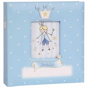 Album enfant bleu 200 photos 10x15cm Prince