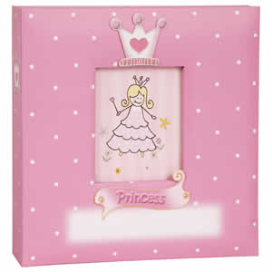 Album enfant rose 200 photos 10x15cm Princesse