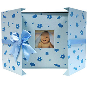 Album photo naissance 200 photos bleu Nursery
