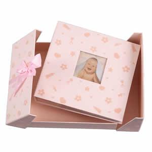 Album photo naissance 200 photos rose Nursery