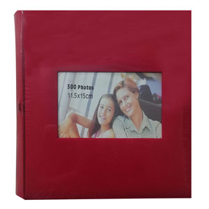 Album photo pochette SQUARE 300 photo rouge