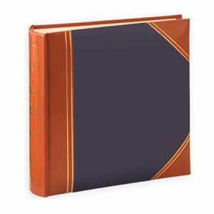 Album pochettes 10x15 200 photos cuir bleu marron