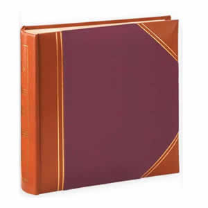 Album pochettes 10x15 200 photos cuir rouge marron