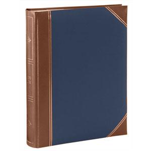 Album pochettes 10x15 300 photos cuir bleu marron