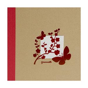Album photo kraft  à pochettes Greenearth 11x15 rouge
