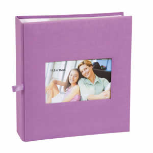 Album photo pochette Erica SQUARE 200 photos mauve