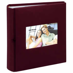 Album photo pochette SQUARE 300 photo bordeaux