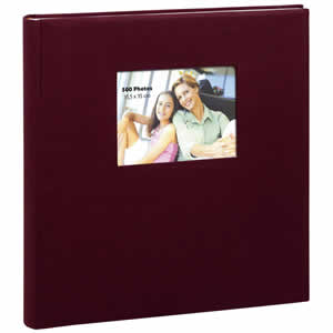 Album photo pochette SQUARE 500 photo bordeaux