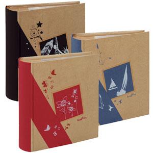 Lot de 3 albums Kraftty Noir - Bleu - Rouge