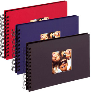 Lot de 3 albums photo Fun 40 photos Noir-Bleu-Rouge