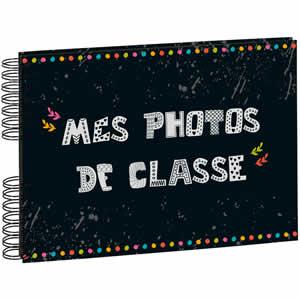 Album photo scolaire à spirales 50 pages noires