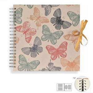 Album photo scrapbooking Spirale - Papillons