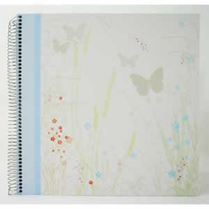 Album photo traditionnel à spirales 60 pages bleu