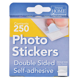 250 pastilles adhesives double face