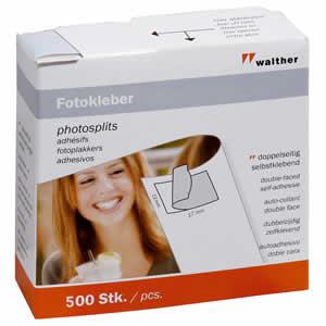 500 pastilles double face pour photos WALTHER