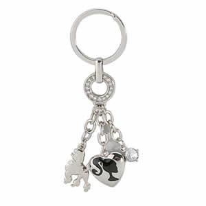 Porte clés en métal chromé Charms