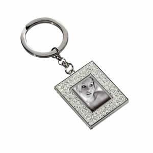 Porte clés photo  métal rectangle Mascagni argent