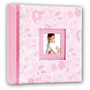 Album photo naissance 10 pages rose