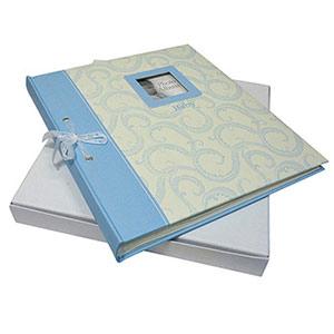 Album photo naissance 60 pages 10x15cm bleu