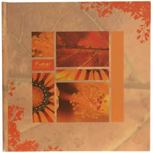 Album photo orange fleurs 40 photos 100% recyclé !