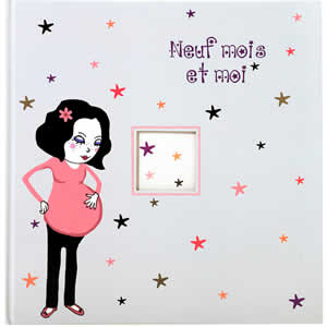 Livre grossesse illustré 80 pages Neuf mois et moi