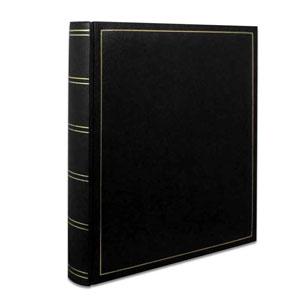 Lot de 2 albums photo classique noir simili cuir